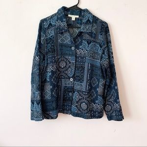 Appleseed's Blue Patchwork Jacket